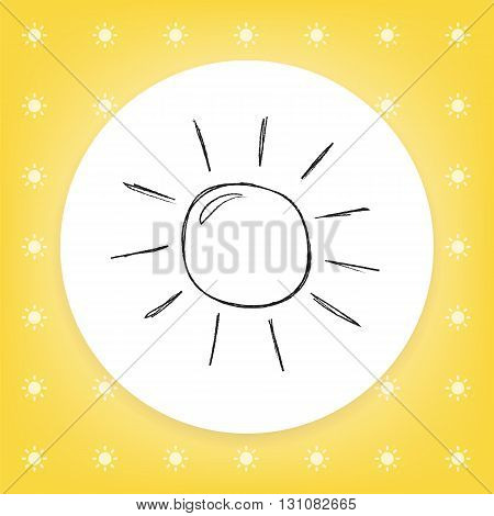 Sun sketch icon for web, mobile and infographics. Hand drawn vector icon isolated on white background.
