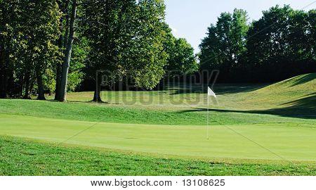 White Flag on Golf Course