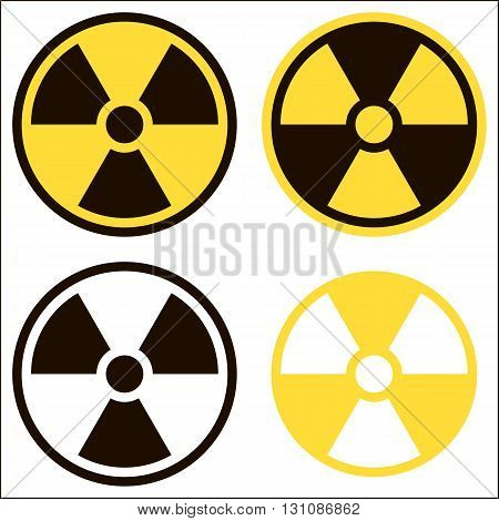 Radiation sign symbol of danger. Vector image. The color options.
