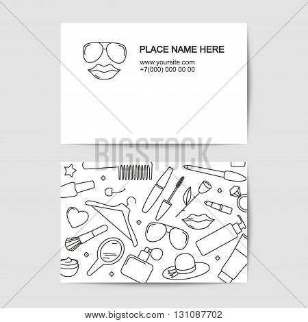 visit card vector template of beauty saloon