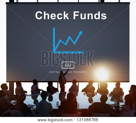 Check Funds Budget Analysis Business Data Finance Concept