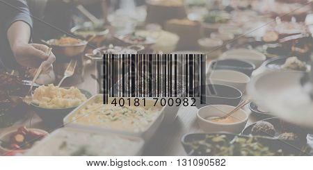 Bar Code Data Identification Encryption Concept