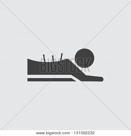 Acupuncture massage icon illustration isolated vector sign symbol