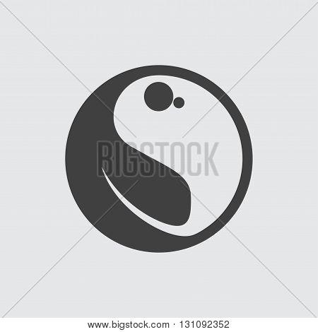 Yin Yang icon illustration isolated vector sign symbol