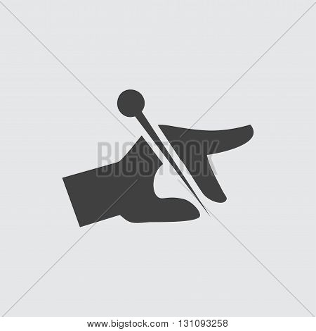 Acupuncture icon illustration isolated vector sign symbol