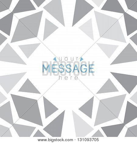 vector geometric background of rhombus and triangles with place for text