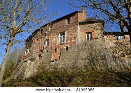 Lyons la Foret France - march 15 2016 : a ancient convent which is a school now