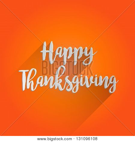 Happy Thanksgiving Lettering Design. Easy to manipulate, re-size or colorize.