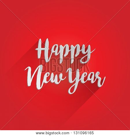 Happy New Year Lettering Design. Easy to manipulate, re-size or colorize.