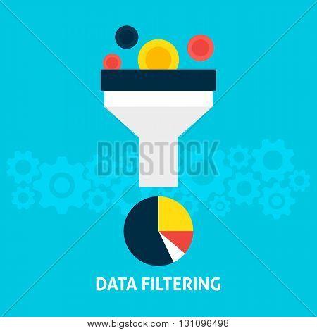 Data Filtering Flat Concept