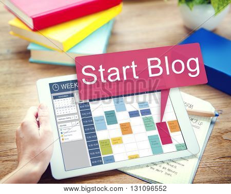 Start Blog Blogging Social Media Online Concept
