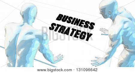 Business Strategy Discussion and Business Meeting Concept Art 3D Illustration Render