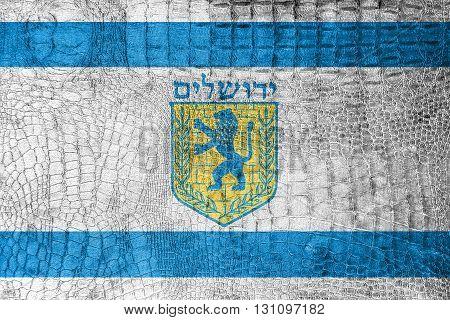 Flag Of Jerusalem, On A Luxurious, Fashionable Canvas
