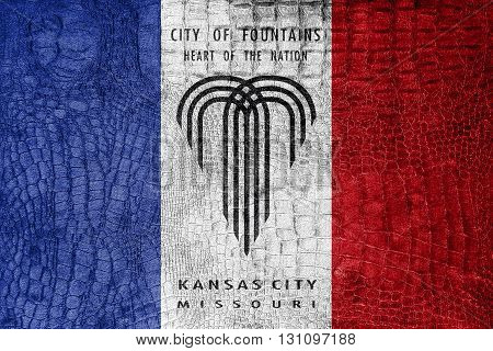 Flag Of Kansas City, Missouri, On A Luxurious, Fashionable Canva