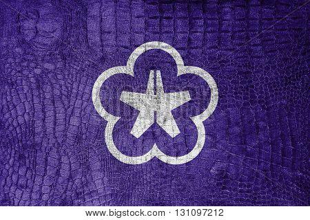 Flag Of Kitakyushu, Japan, On A Luxurious, Fashionable Canvas