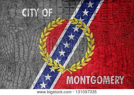 Flag Of Montgomery, Alabama, On A Luxurious, Fashionable Canvas