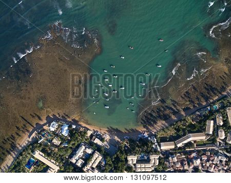 Top View of Praia do Forte, Bahia, Brazil