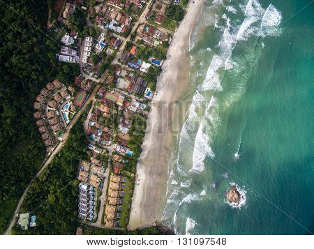 Top View of a Beach, Sao Sebastiao, Brazil
