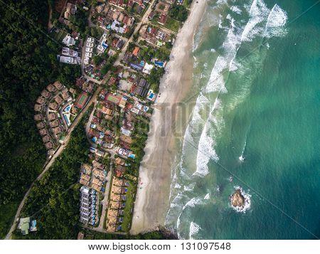 Top View of a Beach, Sao Sebastiao, Brazil
