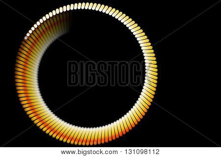 abstract form and black background particle circle