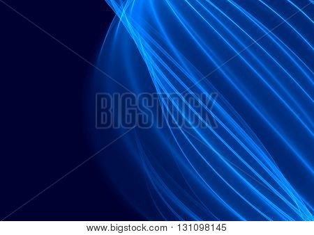 Navy blue background with abstract smooth lines and motion blur