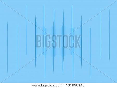 Abstract Illustration of vertical parallel lines on blue background.