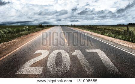 2017 written on rural road