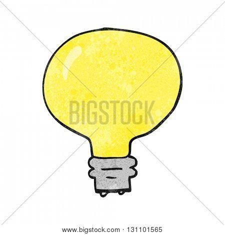 freehand textured cartoon light bulb