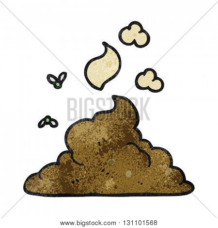 freehand textured cartoon steaming pile of poop