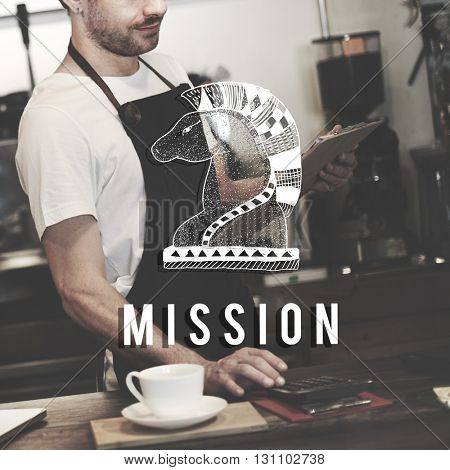Mission Aim Aspiration Core Values Inspiration Concept