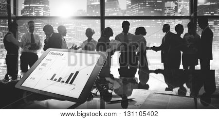 Business People Investment Economy Financial Graph Concept