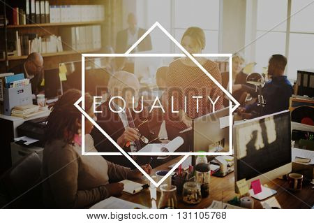 Equality Relationship Respect Fair Balance Concept