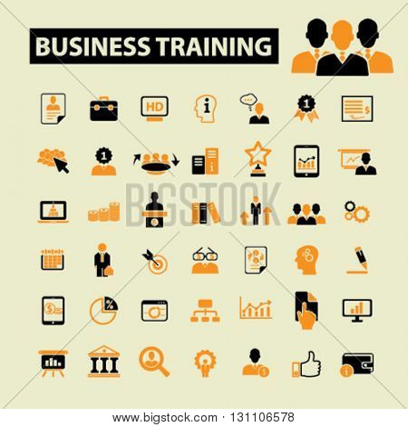 business training icons