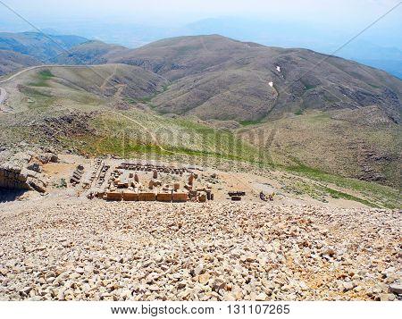 From the top of Mount Nemrut in Turkey.