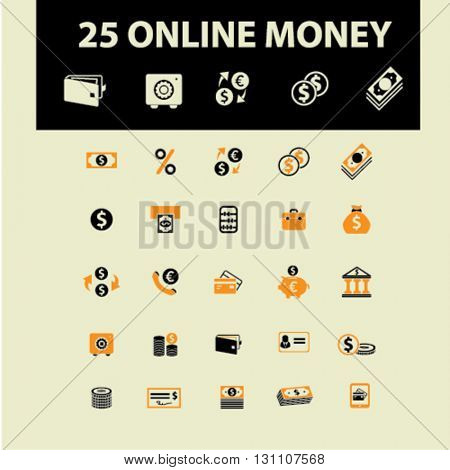 online money icons