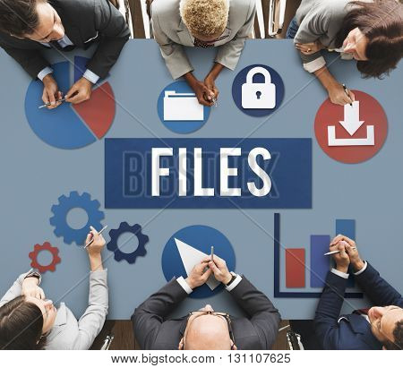 Files Document Technology System Storage Concept