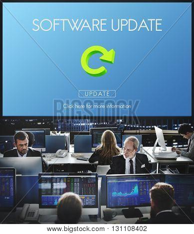 Software Update Website Webpage Networking Concept