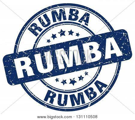 Rumba Blue Grunge Round Vintage Rubber Stamp.rumba Stamp.rumba Round Stamp.rumba Grunge Stamp.rumba.