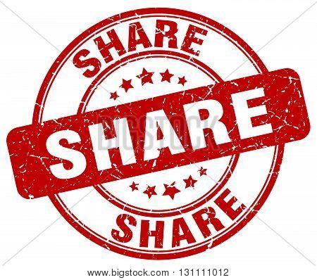 Share Red Grunge Round Vintage Rubber Stamp.share Stamp.share Round Stamp.share Grunge Stamp.share.s