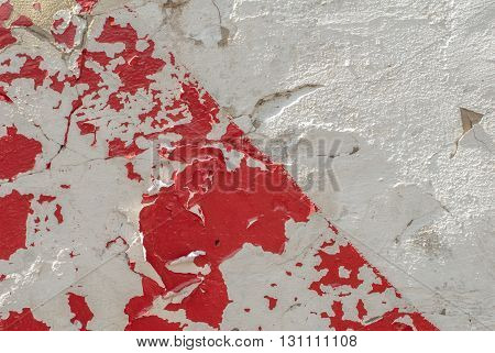 chipped paint on an old plaster wall, landscape style, grunge concrete surface, great background or texture
