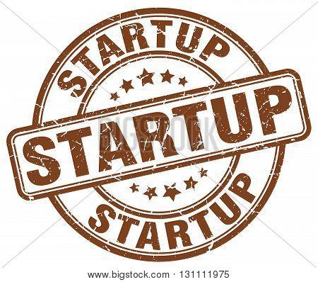 Startup Brown Grunge Round Vintage Rubber Stamp.startup Stamp.startup Round Stamp.startup Grunge Sta