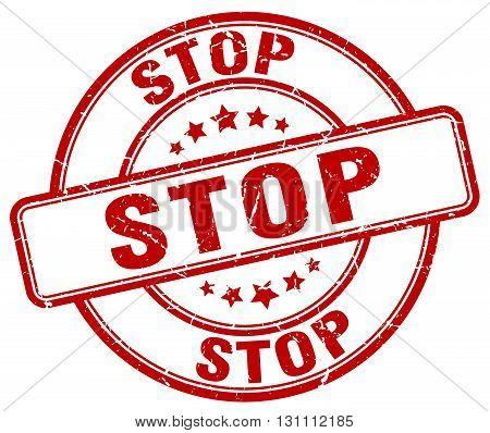 Stop Red Grunge Round Vintage Rubber Stamp.stop Stamp.stop Round Stamp.stop Grunge Stamp.stop.stop V