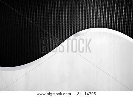 metal design with metal mesh background