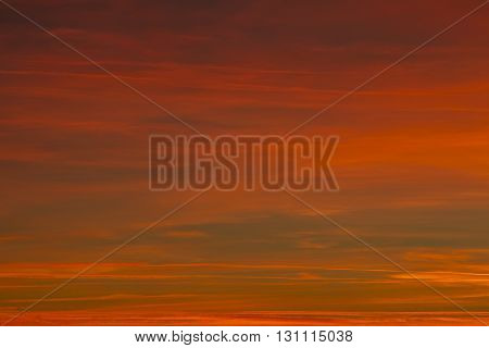 Beautiful sunset background. Sky and clouds landscape.