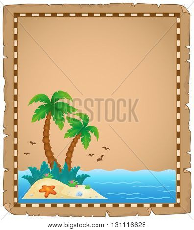Parchment with tropical island theme 1 - eps10 vector illustration.