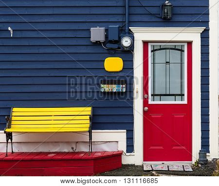 Colorful architecture in Newfoundland houses.