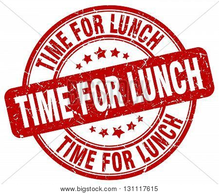 Time For Lunch Red Grunge Round Vintage Rubber Stamp.time For Lunch Stamp.time For Lunch Round Stamp