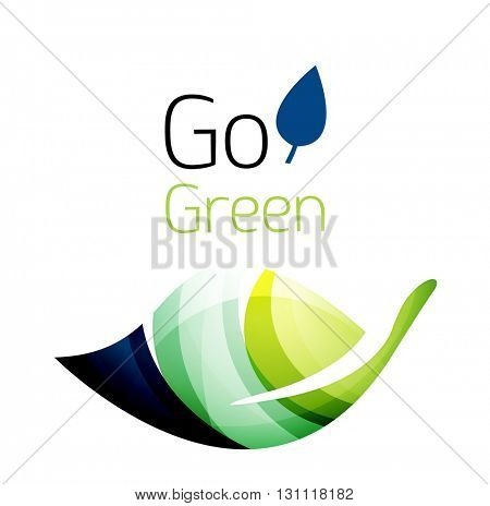 Go green. Leaf nature concept. Vector icon