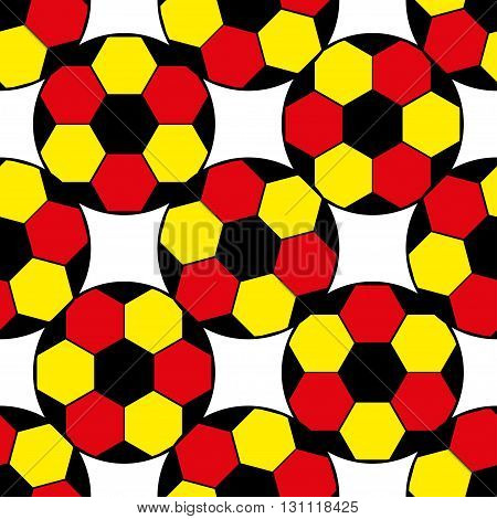 seamless pattern with germany flags and soccer balls