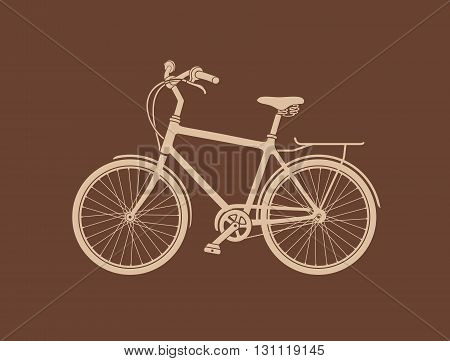 Bicycle Silhouette. The vector illustration of the Bicycle Silhouette. Graphic Design Element.